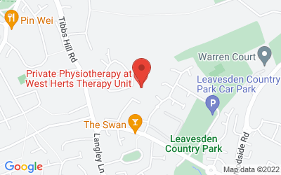 Map of West Herts Therapy Unit, Jacketts Field, Abbots Langley, UK