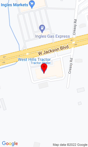Google Map of West Hills Tractor, Inc. 1103 West Jackson Blvd., Jonesborough, TN, 37659
