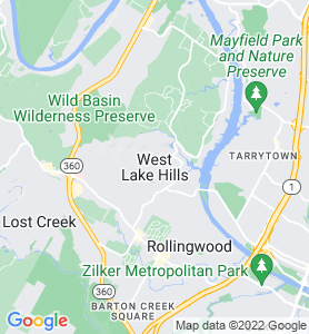 West Lake Hills TX Map