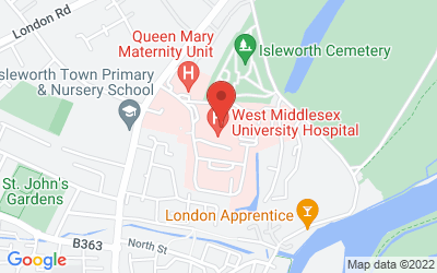 Map of West Middlesex University Hospital