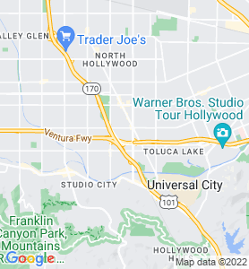West Toluca Lake CA Map