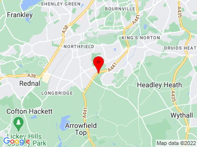 Google Map of West Heath Motors Ltd, Redditch Road, B38 8NA, UK