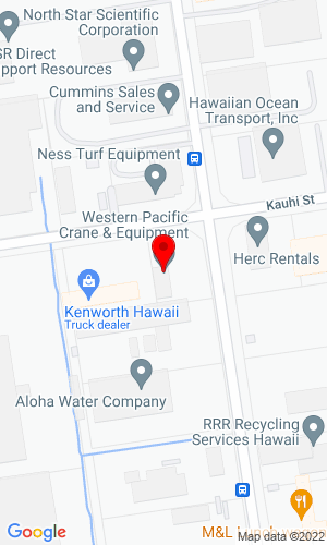 Google Map of Western Machinery 91-209 Kalaeloa Boulevard, Kapolei, HI, 96707