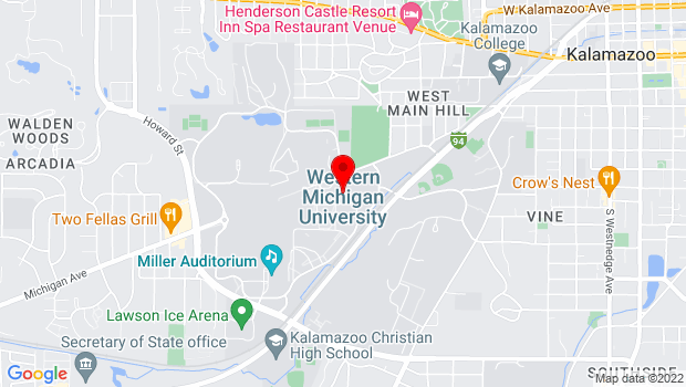 Google Map of Western Michigan University, Kalamazoo, MI 49008