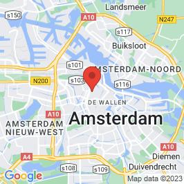 Google map of De vakantiefietser, Amsterdam