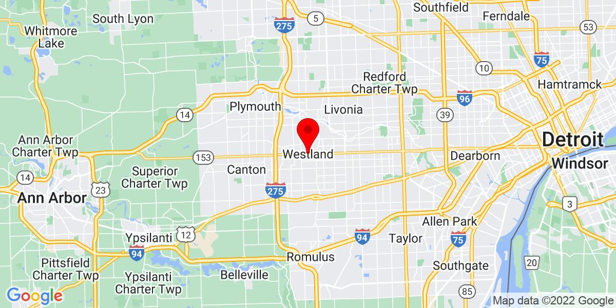 Google Map of Westland, MI