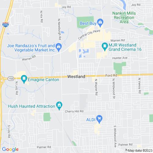 Map of Westland, MI
