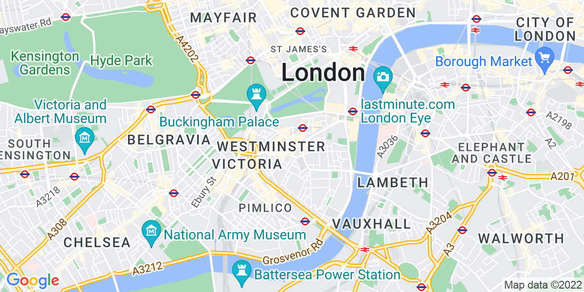 Map: Senior Business Analyst - Finance/HR processes - Cloud ERP implementation job role in Westminster