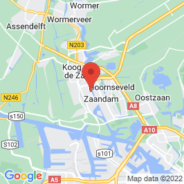 Google map of Zaanse Chocoladefabriek (Verkadefabriek), Zaandam