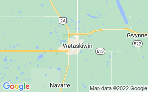Map of Wetaskiwin Lions RV Campground