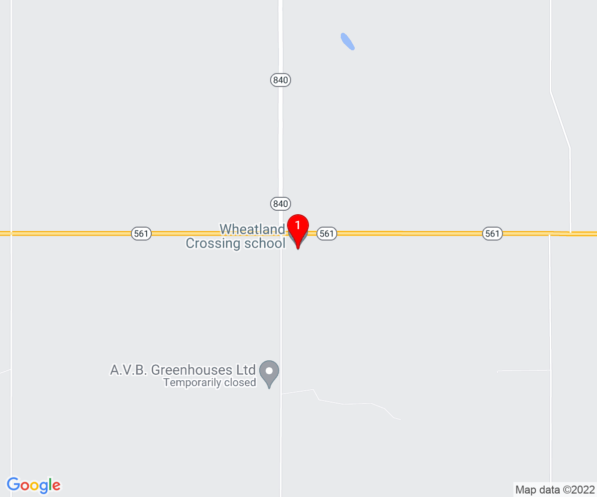 Google Map of Wheatland Crossing School