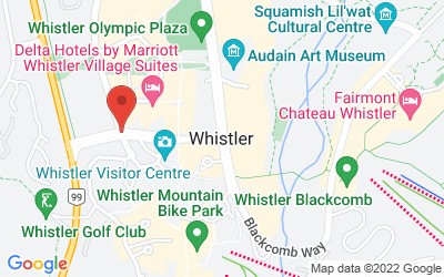 Map of Whistler, BC, Canada