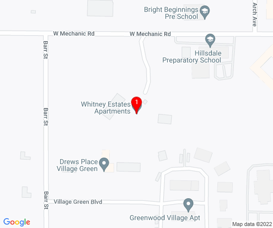 Google Map of Whitney Estates Apartments