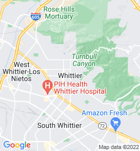 Whittier CA Map