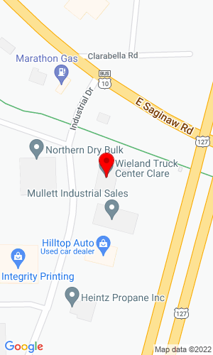 Google Map of Wieland Truck Center - Alpena 3550 U.S. Highway 23 South, Alpena, MI, 49707