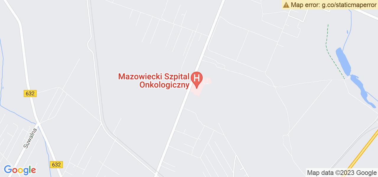 Jedna z ulic w Wieliszewie – Kościelna i mapa dostępnych punktów wysyłki uszkodzonej turbiny do autoryzowanego serwisu regeneracji