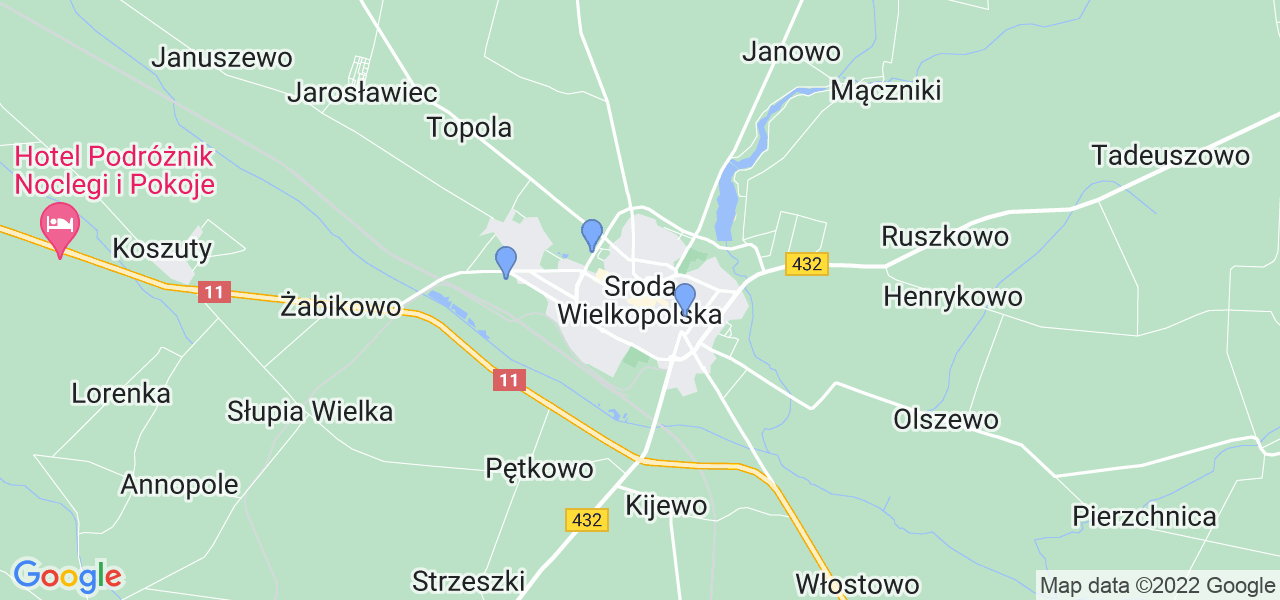 Dostępne w Środzie Wielkopolskiej lokalizacje punktów nadania, z których możesz skorzystać, chcąc wysłać turbinę do regeneracji w największym serwisie w Polsce