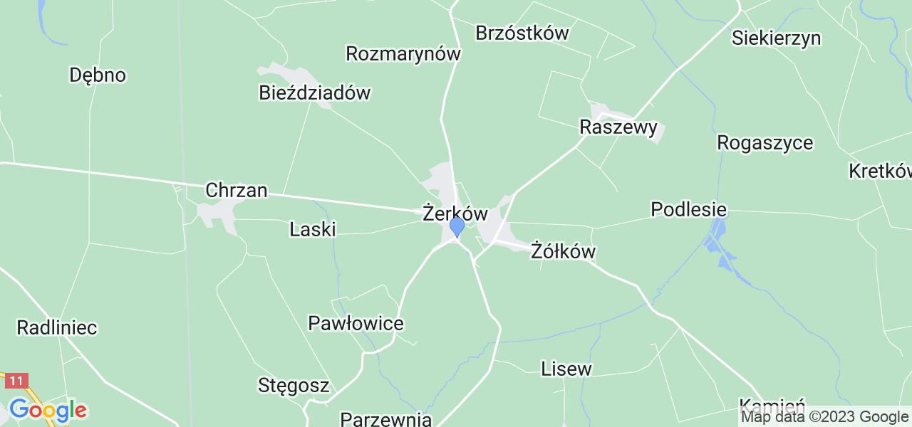 Dostępne w Żerkowie lokalizacje punktów nadania, z których możesz skorzystać, chcąc wysłać turbinę do regeneracji w największym serwisie w Polsce