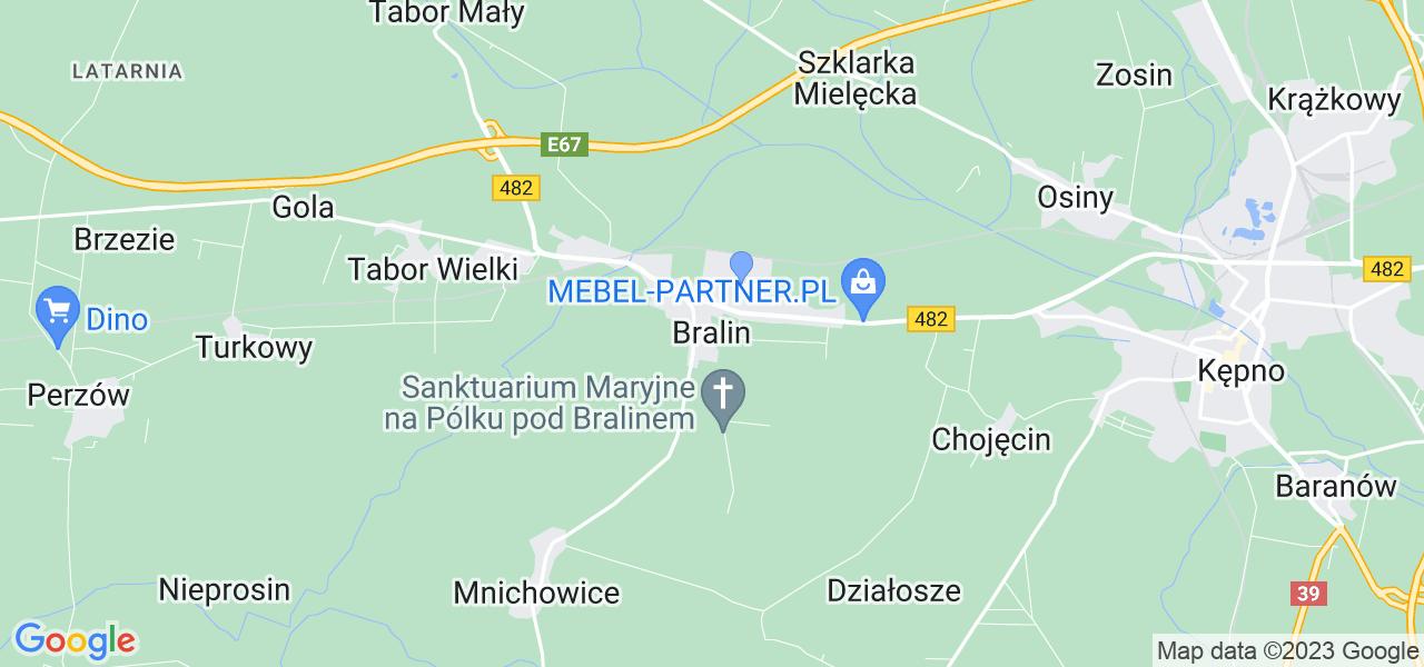 Dostępne w Bralinie lokalizacje punktów nadania, z których możesz skorzystać, chcąc wysłać turbinę do regeneracji w największym serwisie w Polsce