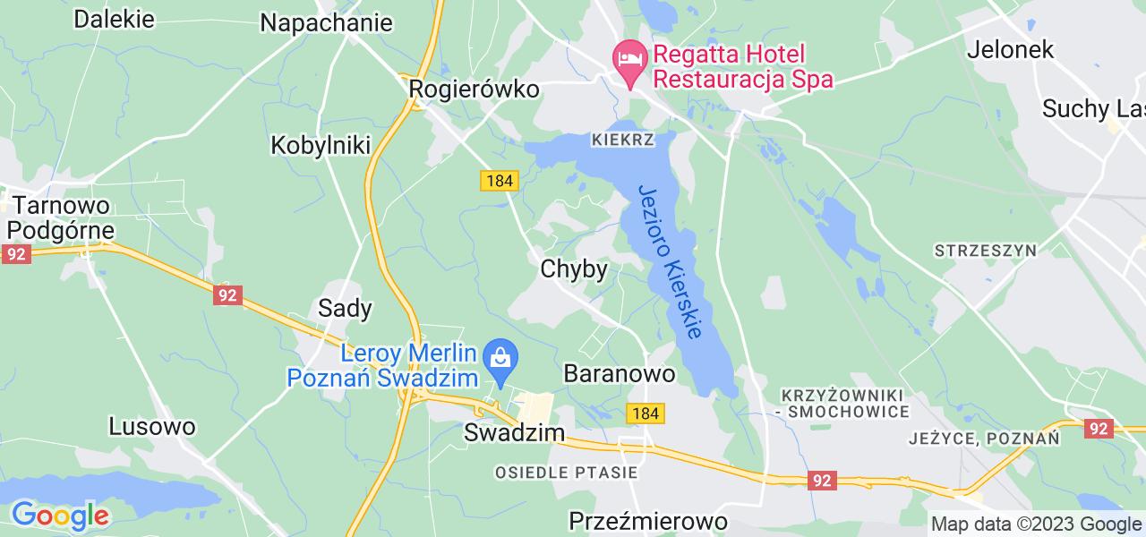 Dostępne w Chybach lokalizacje punktów nadania, z których możesz skorzystać, chcąc wysłać turbinę do regeneracji w największym serwisie w Polsce