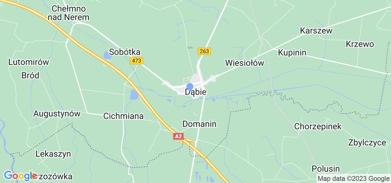 Dostępne w Dąbiu lokalizacje punktów nadania, z których możesz skorzystać, chcąc wysłać turbinę do regeneracji w największym serwisie w Polsce
