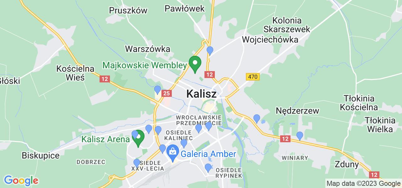 Dostępne w Kaliszu lokalizacje punktów nadania, z których możesz skorzystać, chcąc wysłać turbinę do regeneracji w największym serwisie w Polsce