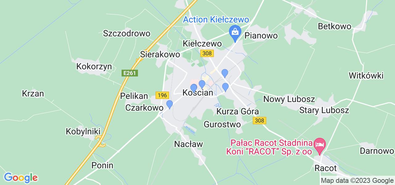 Dostępne w Kościanie lokalizacje punktów nadania, z których możesz skorzystać, chcąc wysłać turbinę do regeneracji w największym serwisie w Polsce