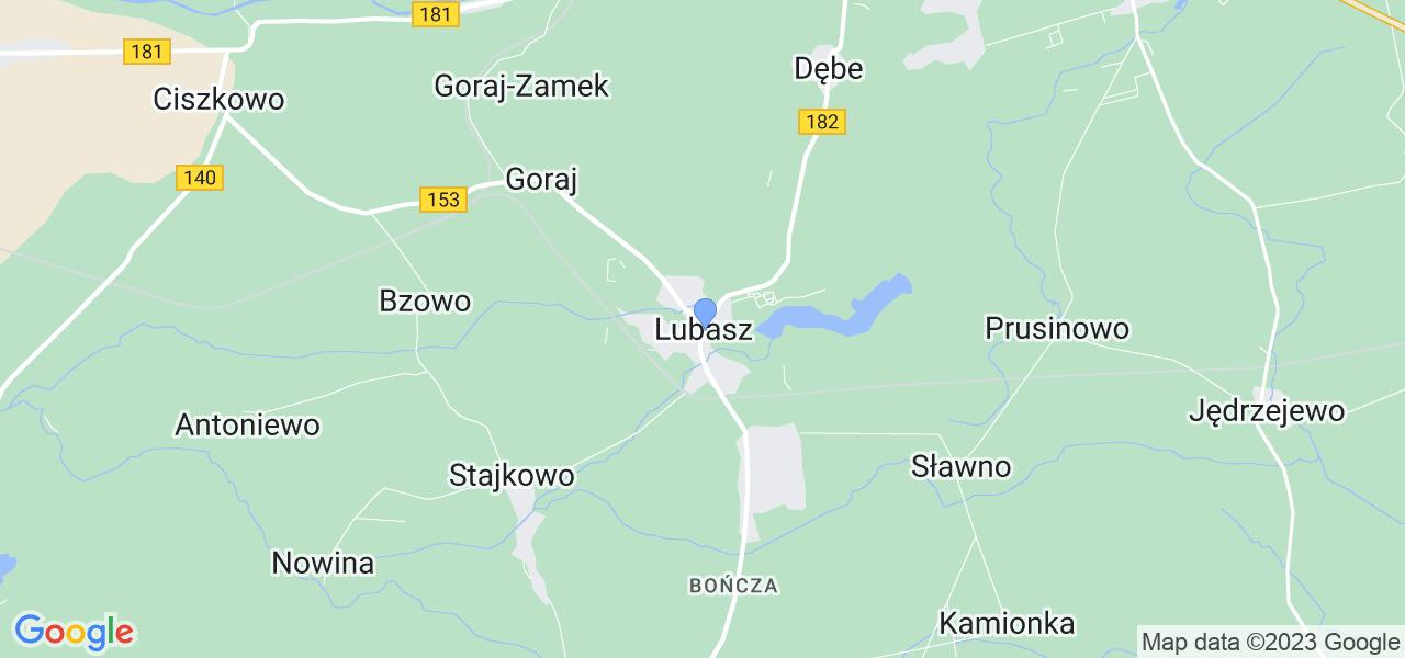 Dostępne w Lubaszu lokalizacje punktów nadania, z których możesz skorzystać, chcąc wysłać turbinę do regeneracji w największym serwisie w Polsce