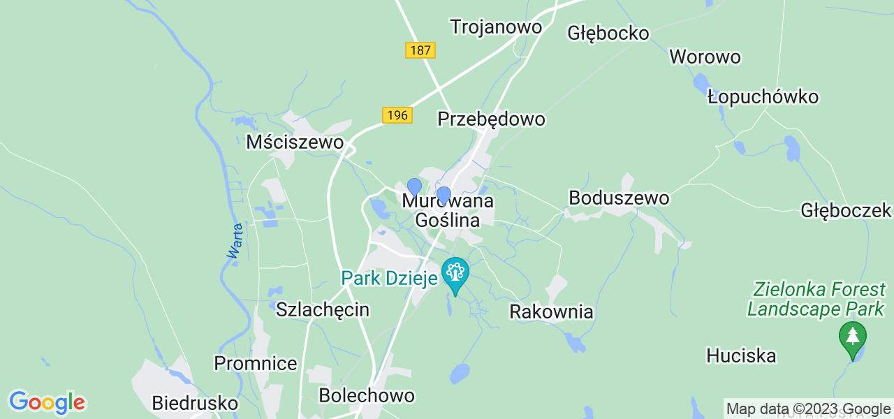 Dostępne w Murowanej Goślinie lokalizacje punktów nadania, z których możesz skorzystać, chcąc wysłać turbinę do regeneracji w największym serwisie w Polsce