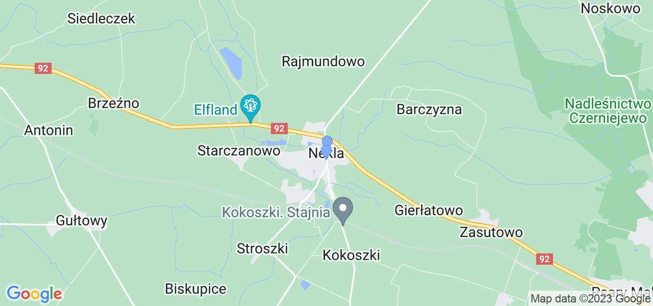 Dostępne w Nekli lokalizacje punktów nadania, z których możesz skorzystać, chcąc wysłać turbinę do regeneracji w największym serwisie w Polsce