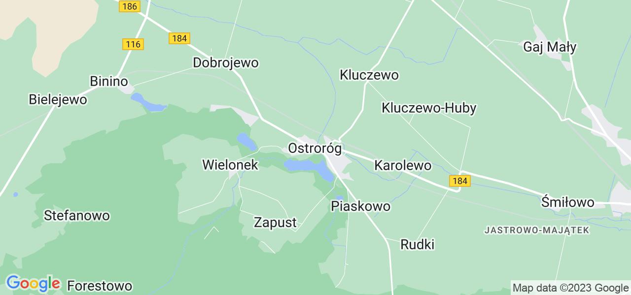 Dostępne w Ostrorogu lokalizacje punktów nadania, z których możesz skorzystać, chcąc wysłać turbinę do regeneracji w największym serwisie w Polsce
