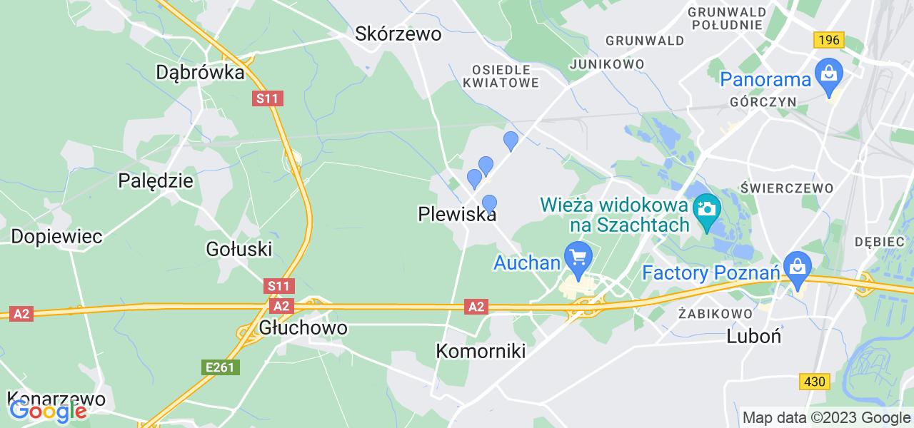 Dostępne w Plewiskach lokalizacje punktów nadania, z których możesz skorzystać, chcąc wysłać turbinę do regeneracji w największym serwisie w Polsce