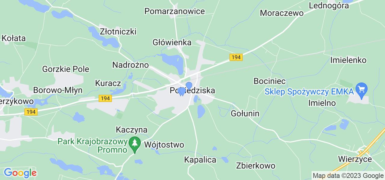Dostępne w Pobiedziskach lokalizacje punktów nadania, z których możesz skorzystać, chcąc wysłać turbinę do regeneracji w największym serwisie w Polsce