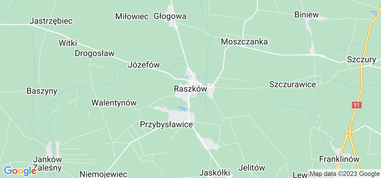 Dostępne w Raszkowie lokalizacje punktów nadania, z których możesz skorzystać, chcąc wysłać turbinę do regeneracji w największym serwisie w Polsce