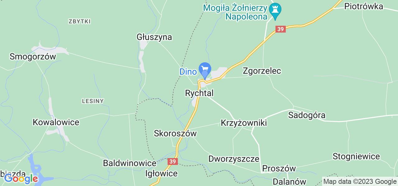 Dostępne w Rychtalu lokalizacje punktów nadania, z których możesz skorzystać, chcąc wysłać turbinę do regeneracji w największym serwisie w Polsce