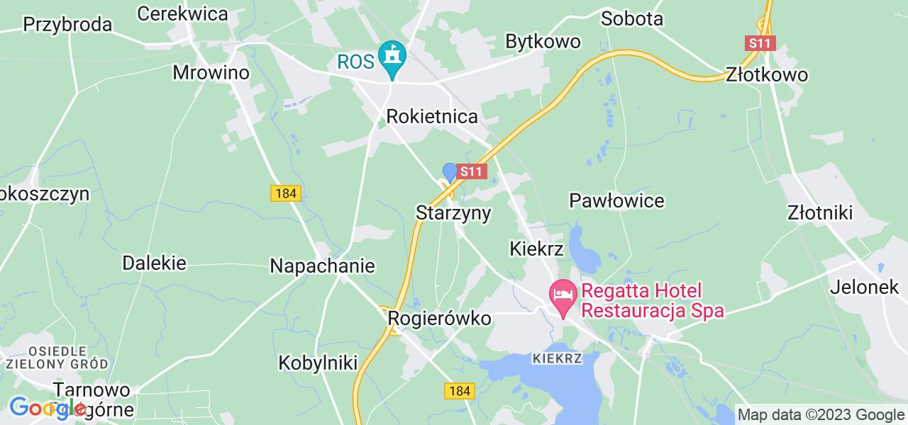 Dostępne w Starzynach lokalizacje punktów nadania, z których możesz skorzystać, chcąc wysłać turbinę do regeneracji w największym serwisie w Polsce