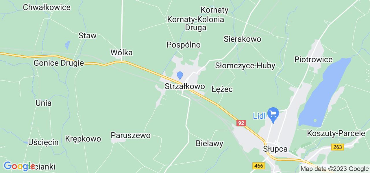 Dostępne w Strzałkowie lokalizacje punktów nadania, z których możesz skorzystać, chcąc wysłać turbinę do regeneracji w największym serwisie w Polsce