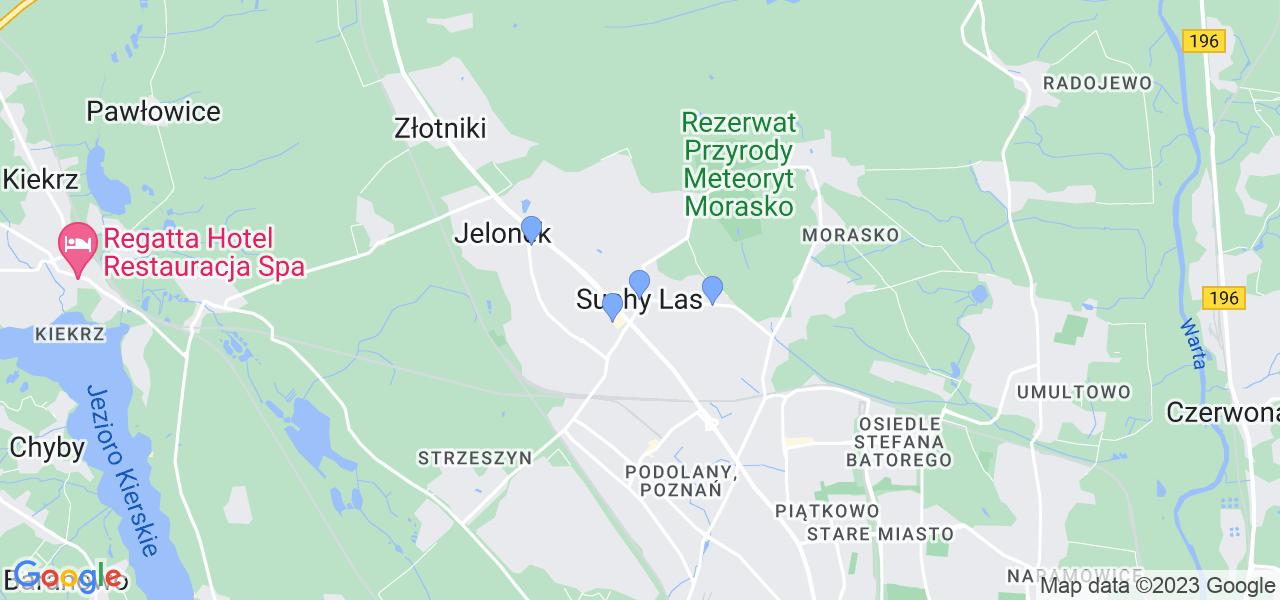 Dostępne w Suchym Lesie lokalizacje punktów nadania, z których możesz skorzystać, chcąc wysłać turbinę do regeneracji w największym serwisie w Polsce