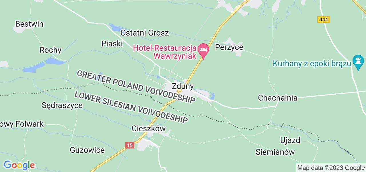 Dostępne w Zdunach lokalizacje punktów nadania, z których możesz skorzystać, chcąc wysłać turbinę do regeneracji w największym serwisie w Polsce