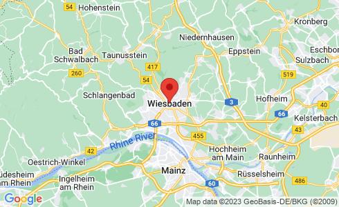 Google Karte - Wiesbaden