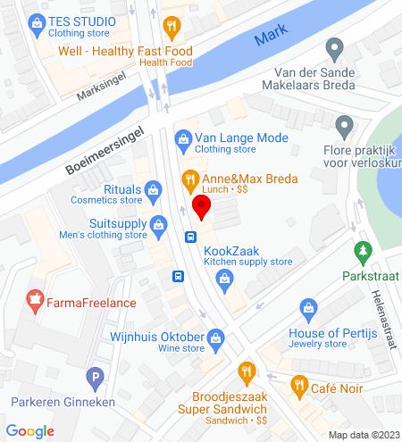 Google Map of Wilhelminastraat 25 4818 SH Breda