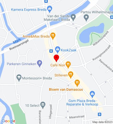 Google Map of Wilhelminastraat 52 4818 SH Breda