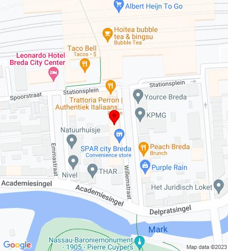 Google Map of Willemstraat 17 4811 AJ Breda