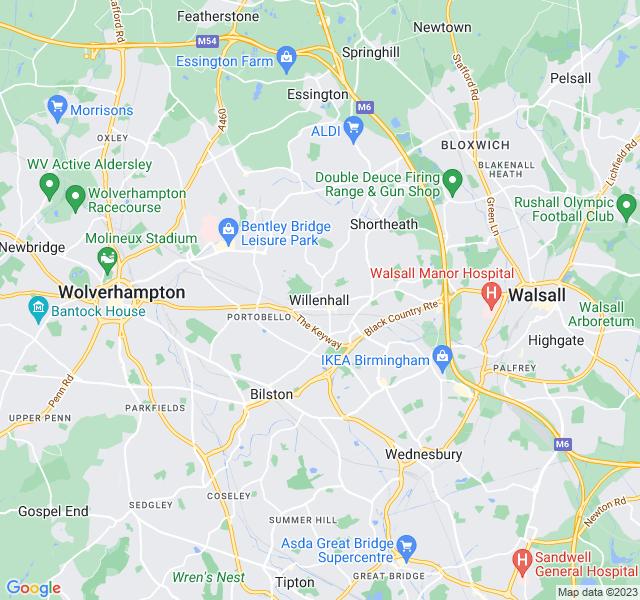 Website Designer Willenhall Google map of location