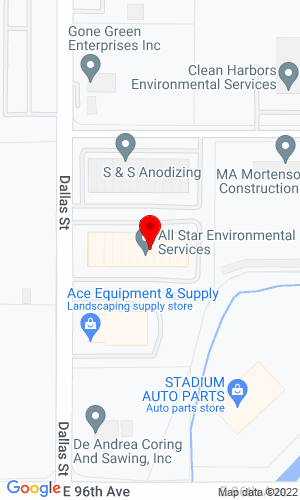 Google Map of Williams Equipment, LLC 9670 Dallas Street Unit J, Henderson, CO, 80640