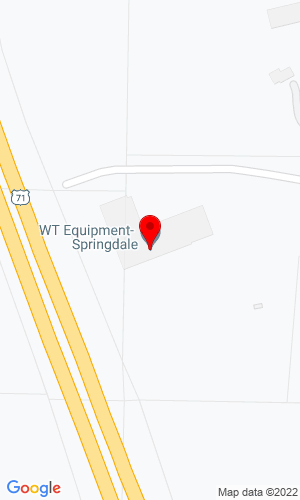 Google Map of Williams Tractor Inc. 2501 N Shiloh Drive, Fayetteville, AR,