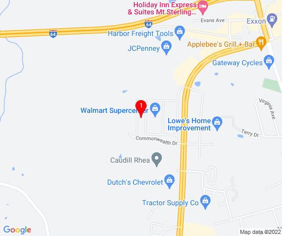 Google Map of Williams Estates Apartments Mt Sterling KY