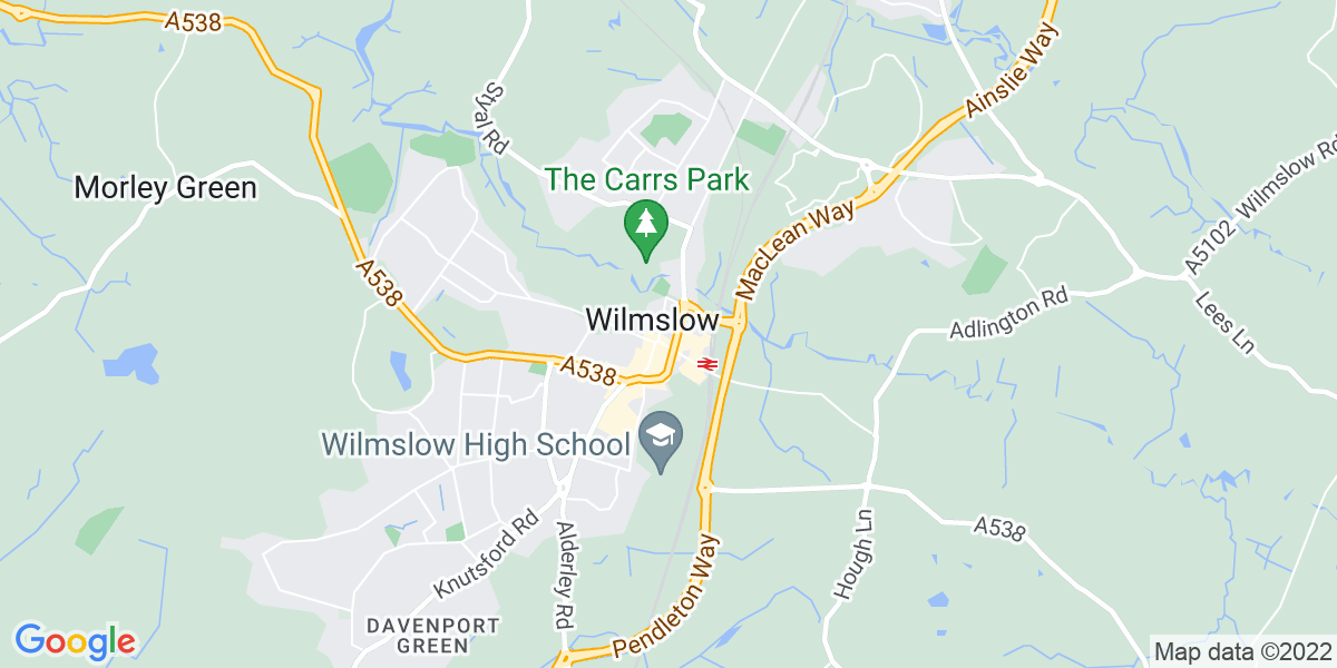 Map: Commercial Analyst position in Wilmslow