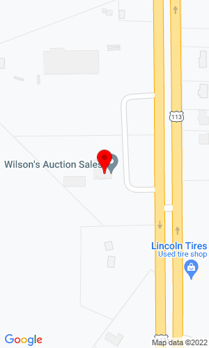 Google Map of Wilson's Auction Sales 10120 DuPont Blvd., Lincoln, DE, 19960