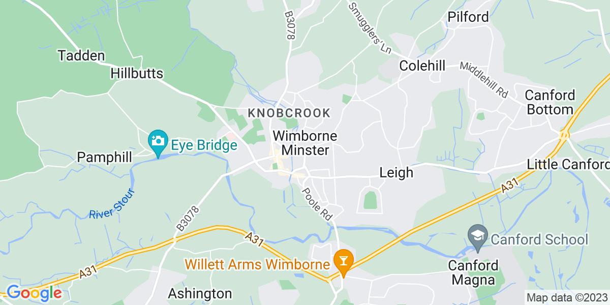 Map: Senior Software Engineer - Embedded role in Wimborne